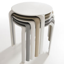 Contemporary table / polypropylene / round / square