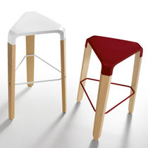 Contemporary bar stool / beech / polycarbonate / ABS
