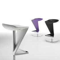 Original design bar stool / chromed metal / commercial / swivel