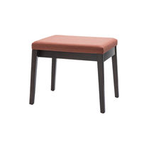 Contemporary stool / wooden / commercial / upholstered