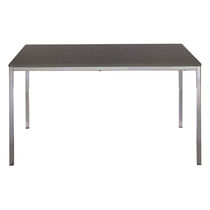Contemporary table / metal / plastic / laminate