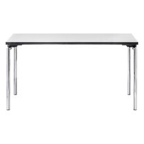 Contemporary table / metal / rectangular / for public buildings