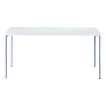 Contemporary work table / steel / rectangular / for public buildings