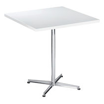 Contemporary bistro table / steel / round / square