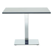 Contemporary boardroom table / metal / rectangular