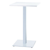 Contemporary high bar table / steel / square / commercial