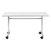 Contemporary table / steel / rectangular / for public buildings