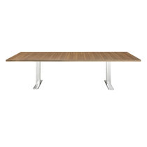 Contemporary conference table / wooden / HPL / steel