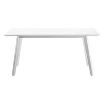Contemporary table / wooden / rectangular / oval