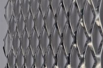 Expanded metal sheet metal / perforated / steel / with diamond-shaped perforations