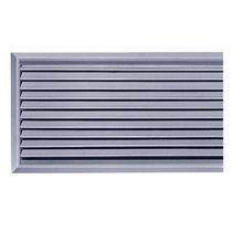 Steel ventilation grille / rectangular / adjustable