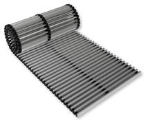 Aluminum ventilation grille / linear / for raised floors