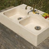 Double kitchen sink / natural stone