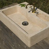 Single-bowl kitchen sink / natural stone