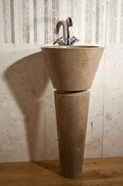 Free-standing washbasin / rectangular / stone / contemporary