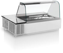 Countertop refrigerated display case / for shops