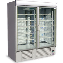 Upright freezer / commercial / glazed