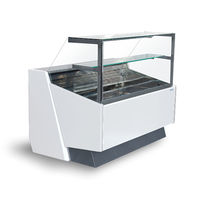 Refrigerated counter display case / for bakeries / for pastry shops / for shops