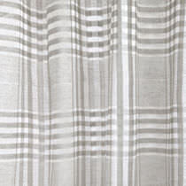 Curtain fabric / plaid / linen