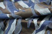 Upholstery fabric / patterned / silk / Jacquard