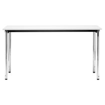 Contemporary table / laminate / metal / rectangular