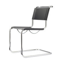 Conference chair with armrests / cantilever / mesh / leather