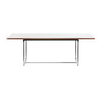 Contemporary table / steel / solid wood / HPL