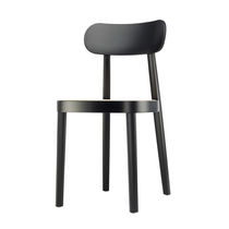 Contemporary chair / beech / lacquered wood / commercial