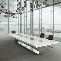 Conference table / contemporary / wooden / metal