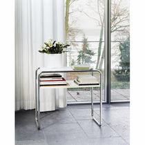 Nesting table / Bauhaus design / wooden / glass