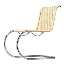 Bauhaus design chair / cantilever / wicker / leather