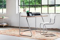 Wooden desk / steel / contemporary / with storage
