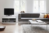 Coffee table / contemporary / wooden / steel
