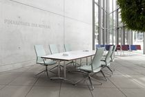 Conference table / contemporary / aluminum / wooden