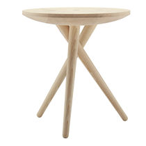 Contemporary side table / oak / walnut / ash
