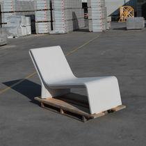 Contemporary chaise longue / concrete / outdoor / for public areas
