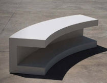 Public bench / contemporary / concrete / commercial