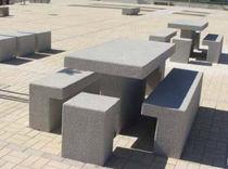 Contemporary picnic table / concrete / rectangular / for public areas