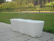Public bench / original design / concrete / commercial