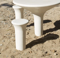 Contemporary stool / concrete / commercial / for public areas