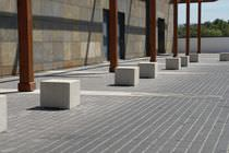 Contemporary stool / concrete / outdoor / commercial