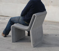 Contemporary chair / concrete / commercial / for public areas