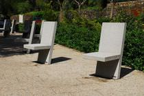 Contemporary chair / concrete / for professional use / for public areas