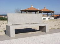 Public bench / traditional / concrete / commercial