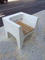 Concrete urban armchair