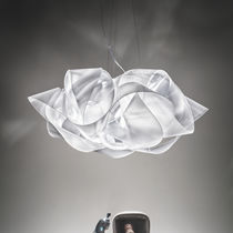 Pendant lamp / original design / fabric / Lentiflex®