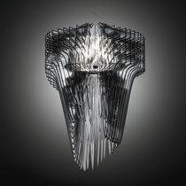 Pendant lamp / original design / crystal / by Zaha Hadid