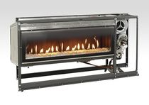 Closed gas hearth / 1-sided / double-sided / metal