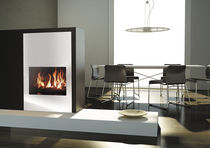 Gas fireplace insert / double-sided / 1-sided