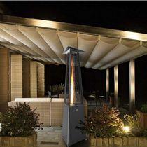 Floor-standing infrared patio heater / gas